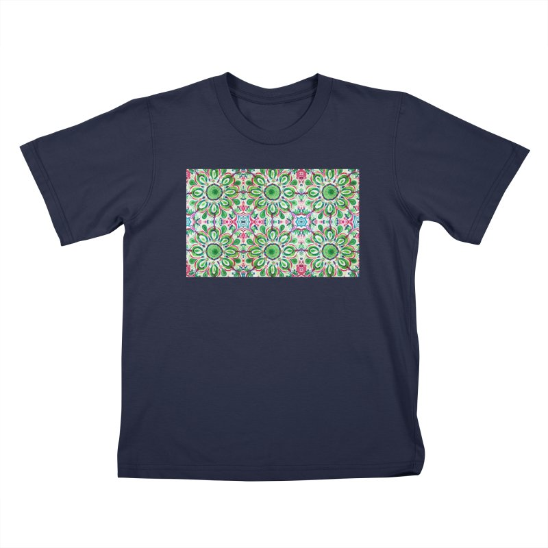 Christmas Abstract by Marian Nixon Paintings Kids T-Shirt by Mariannixon's Artist Shop