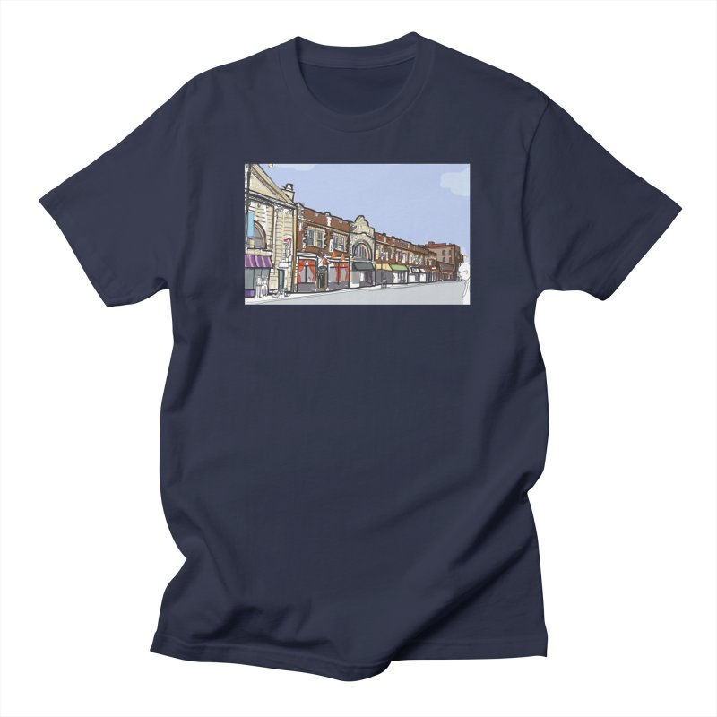 Andersonville, Chicago by Marian Nixon Paintings Men's T-Shirt by Marian Nixon's Artist Shop