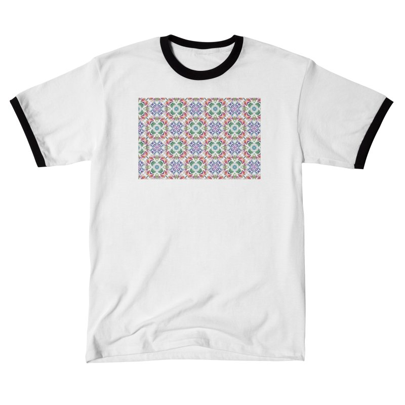 Colorful Abstract Geometric by Marian Nixon Paintings Women's T-Shirt by Marian Nixon's Artist Shop