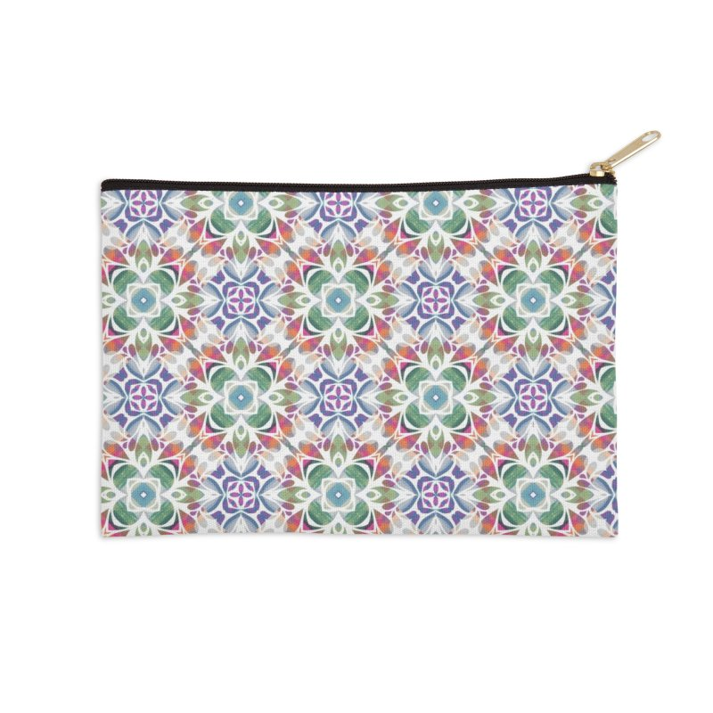 Colorful Abstract Geometric by Marian Nixon Paintings Accessories Zip Pouch by Marian Nixon's Artist Shop