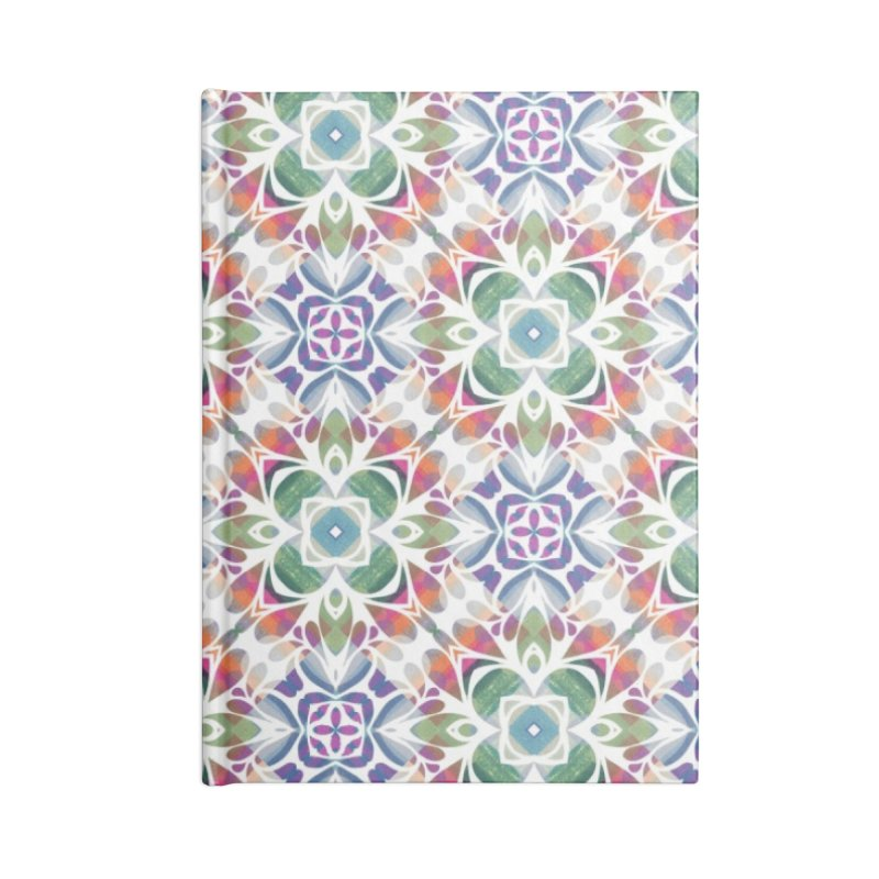 Colorful Abstract Geometric by Marian Nixon Paintings Accessories Notebook by Marian Nixon's Artist Shop
