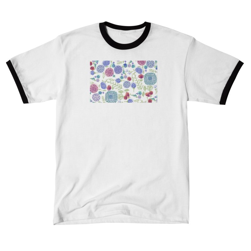 Summer Garden Flowers by Marian Nixon Women's T-Shirt by Marian Nixon's Artist Shop