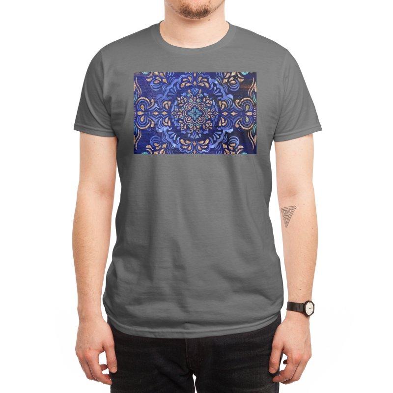 Abstract Dark Swirl by Marian Nixon Men's T-Shirt by Marian Nixon's Artist Shop