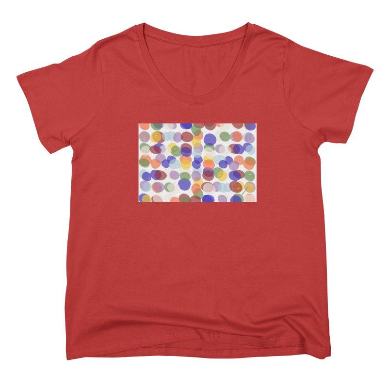 Fun Polka Dots by Marian Nixon Women's Scoop Neck by Marian Nixon's Artist Shop