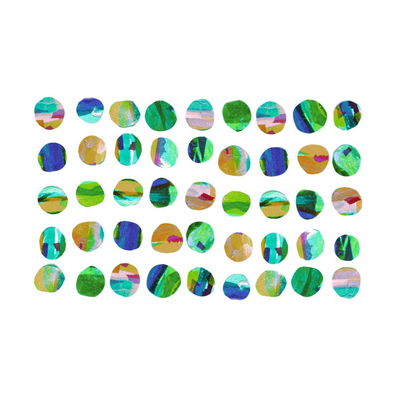 Green Blue Dots by Marian Nixon Kids Toddler Zip-Up Hoody by Marian Nixon's Artist Shop