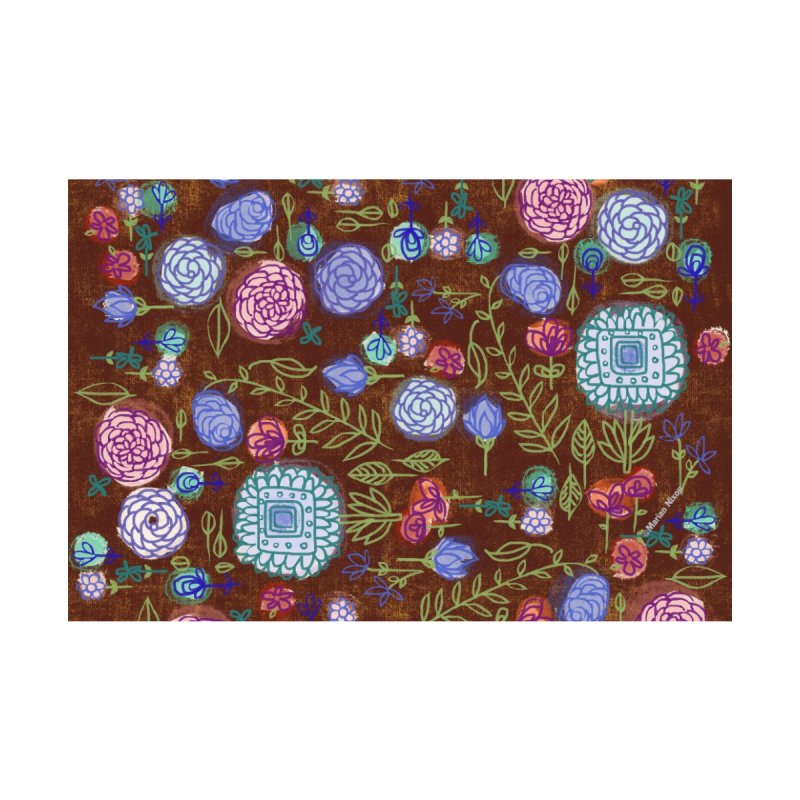 Fall Floral by Marian Nixon Home Stretched Canvas by Marian Nixon's Artist Shop