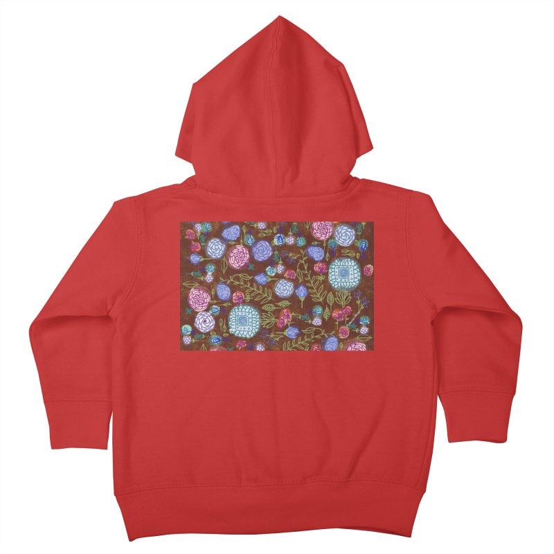Fall Floral by Marian Nixon Kids Toddler Zip-Up Hoody by Marian Nixon's Artist Shop