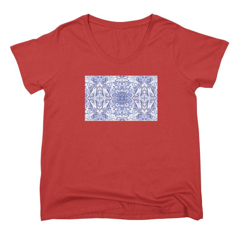 Blue Swirl by Marian Nixon Women's Scoop Neck by Marian Nixon's Artist Shop