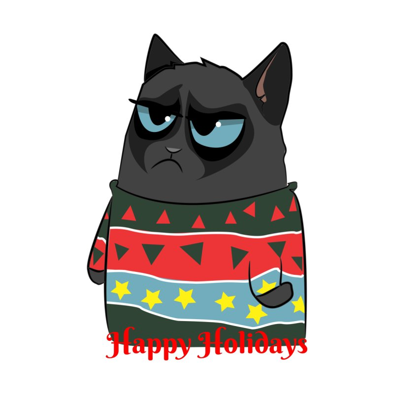 Mariejudith Moody Black Cat Wears And Ugly Christmas Sweater 02