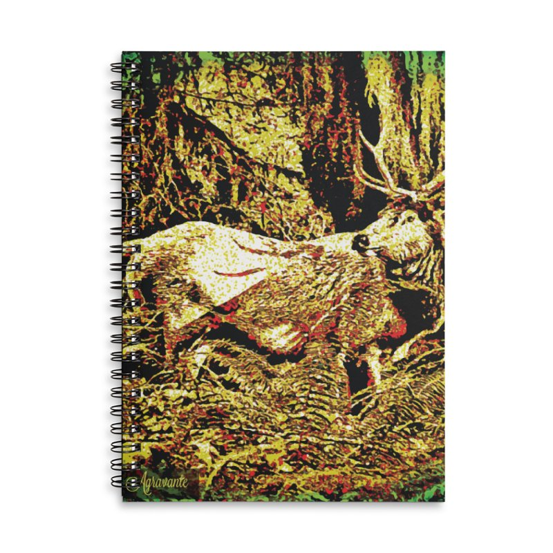 Antlers in the Wild Accessories Lined Spiral Notebook by MariecorAgravante's Artist Shop