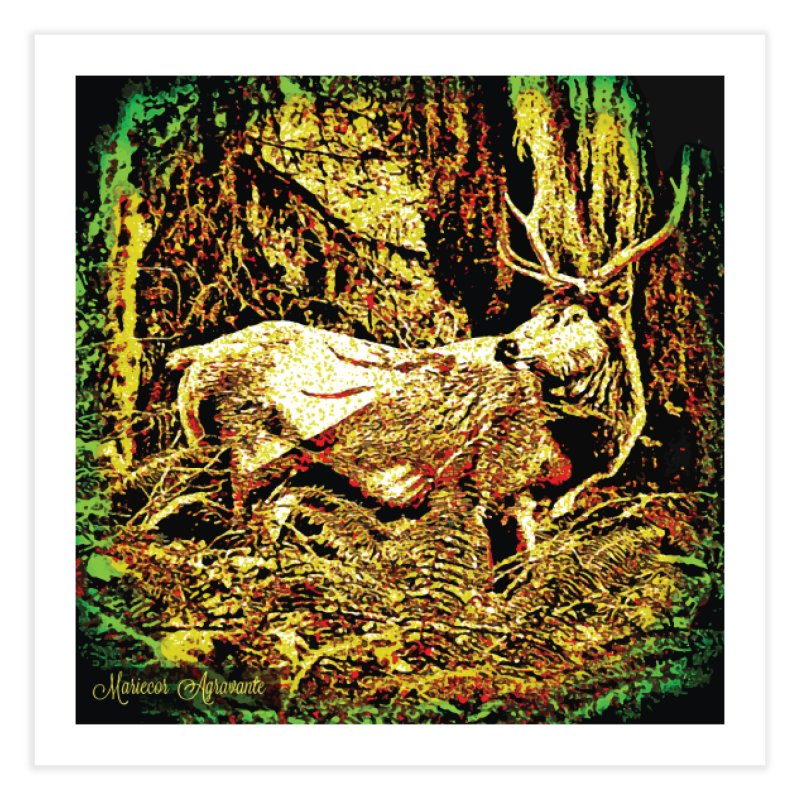 Antlers in the Wild Home Fine Art Print by MariecorAgravante's Artist Shop