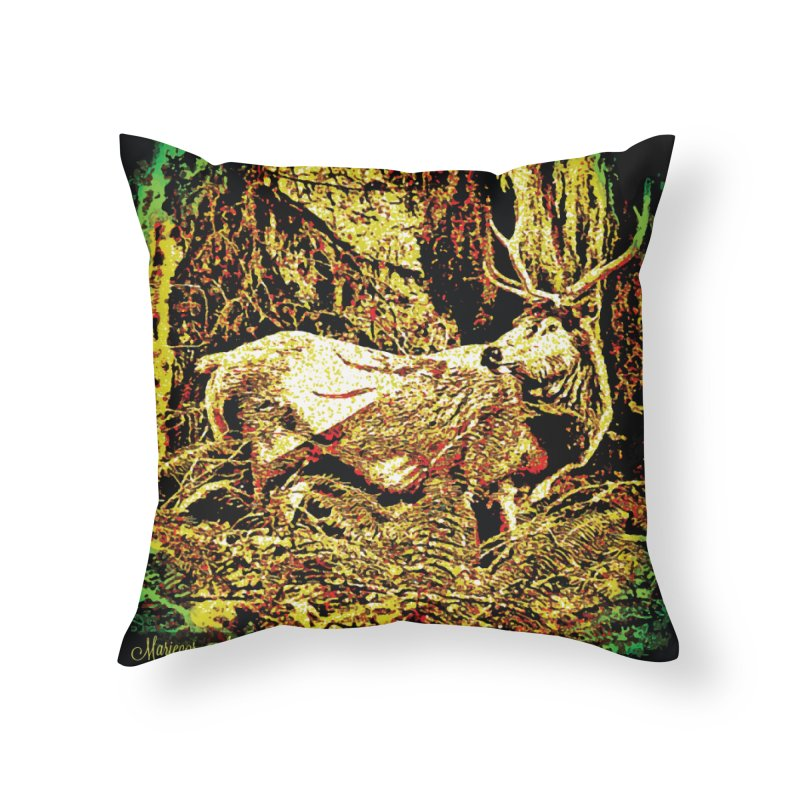 Antlers in the Wild Home Throw Pillow by MariecorAgravante's Artist Shop