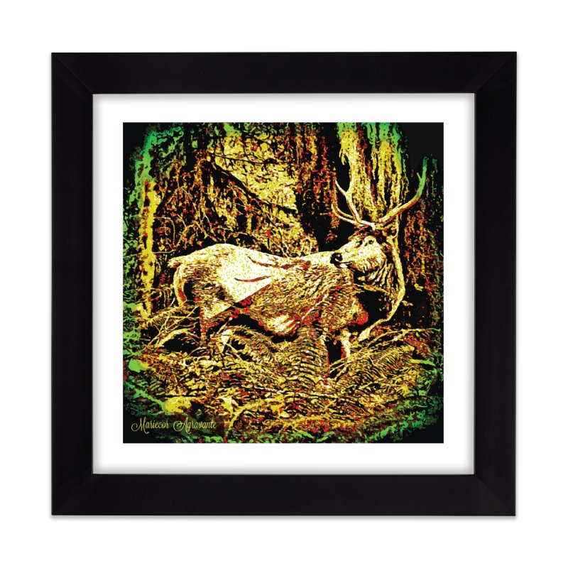Antlers in the Wild Home Framed Fine Art Print by MariecorAgravante's Artist Shop