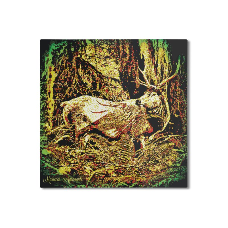 Antlers in the Wild Home Mounted Aluminum Print by MariecorAgravante's Artist Shop