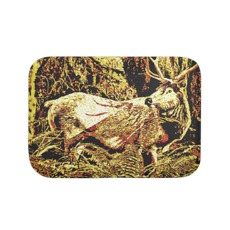 Antlers in the Wild Home Bath Mat by MariecorAgravante's Artist Shop