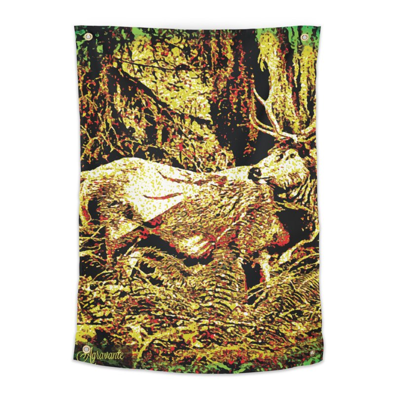 Antlers in the Wild Home Tapestry by MariecorAgravante's Artist Shop