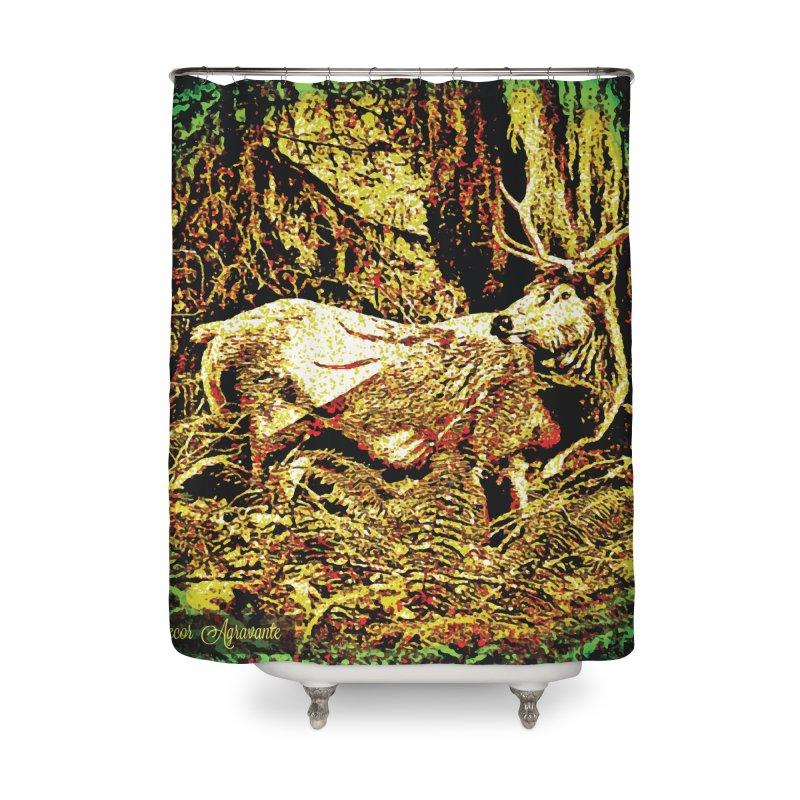 Antlers in the Wild Home Shower Curtain by MariecorAgravante's Artist Shop