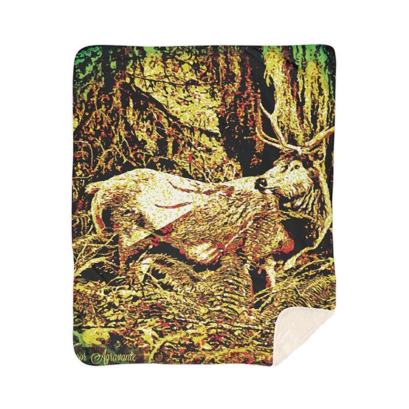 Antlers in the Wild Home Sherpa Blanket Blanket by MariecorAgravante's Artist Shop