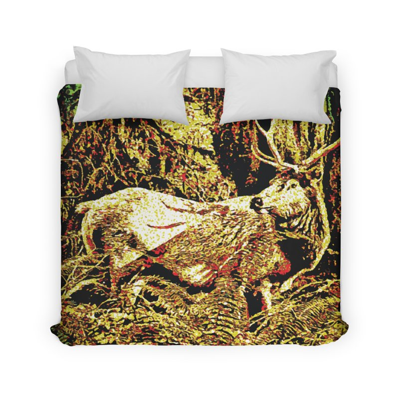 Antlers in the Wild Home Duvet by MariecorAgravante's Artist Shop