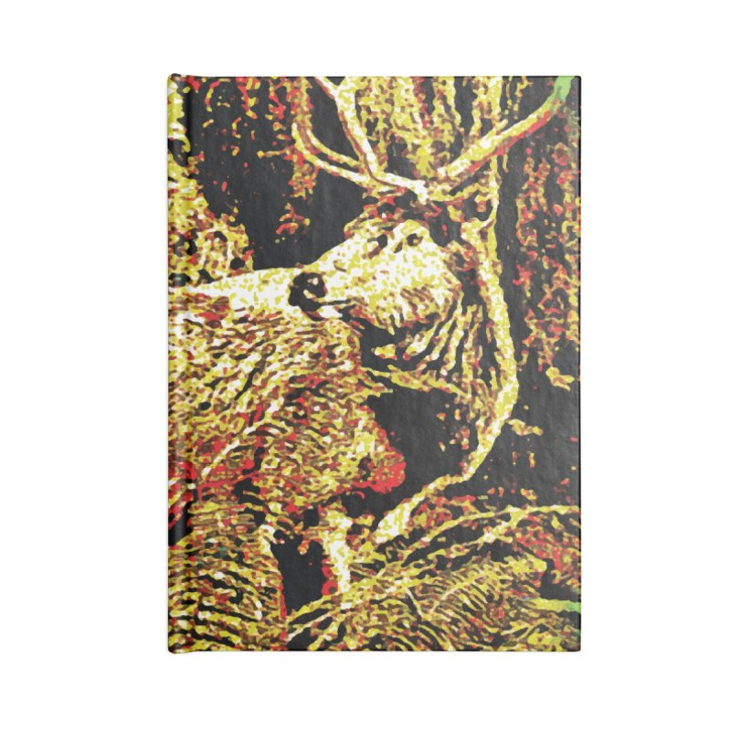 Antlers in the Wild Accessories Lined Journal Notebook by MariecorAgravante's Artist Shop