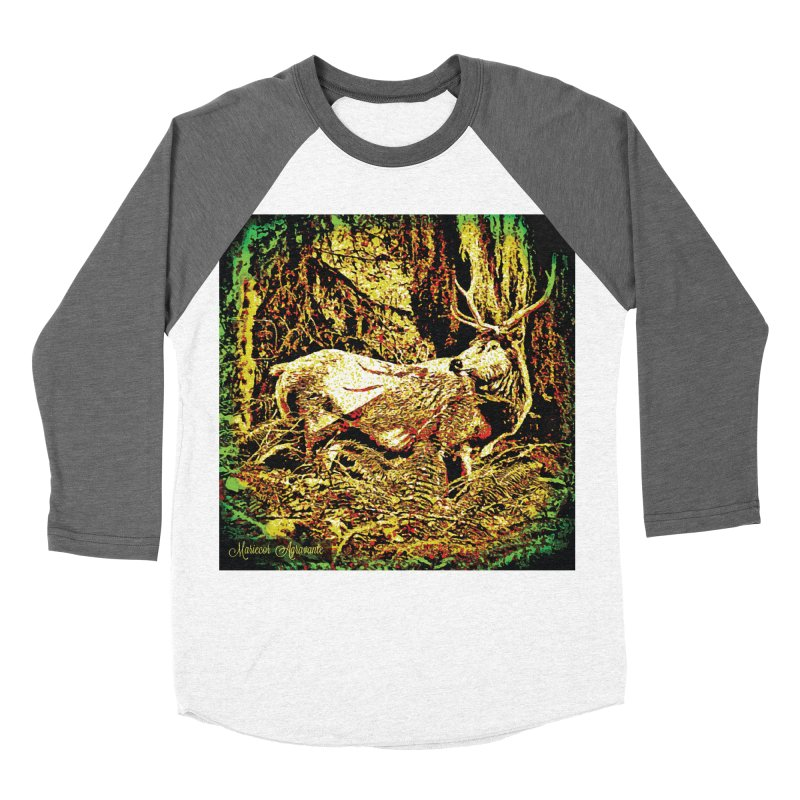 Antlers in the Wild Women's Longsleeve T-Shirt by MariecorAgravante's Artist Shop