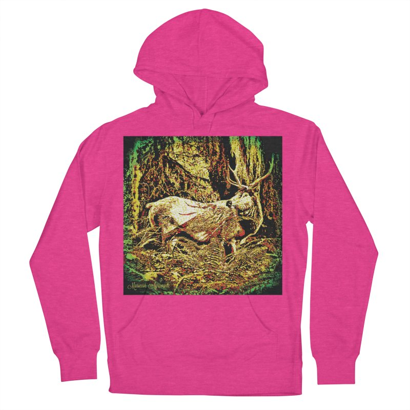 Antlers in the Wild Women's French Terry Pullover Hoody by MariecorAgravante's Artist Shop