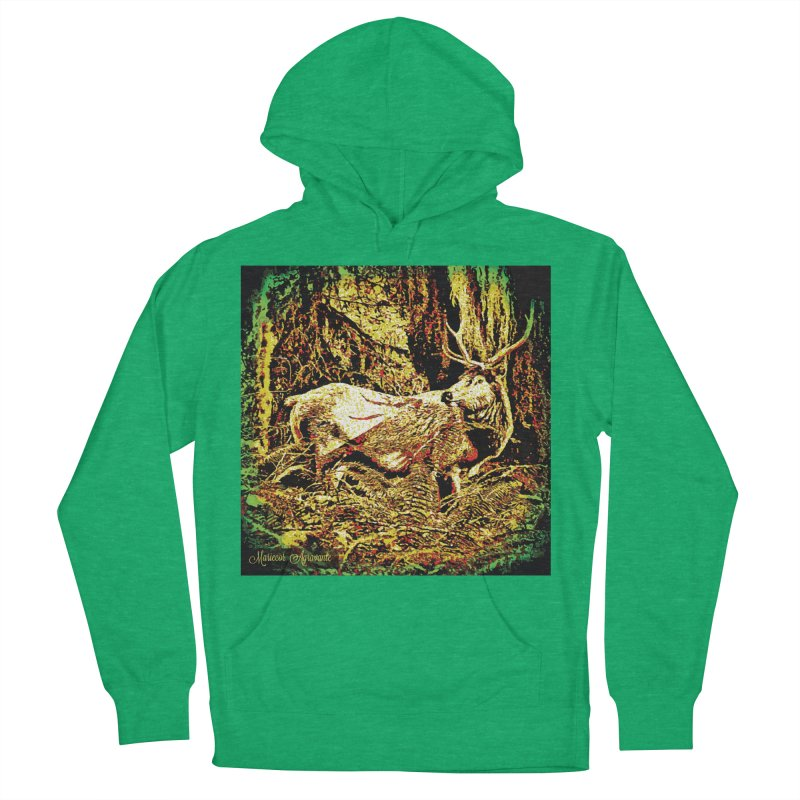 Antlers in the Wild Men's French Terry Pullover Hoody by MariecorAgravante's Artist Shop