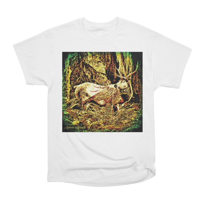 Antlers in the Wild Men's Heavyweight T-Shirt by MariecorAgravante's Artist Shop