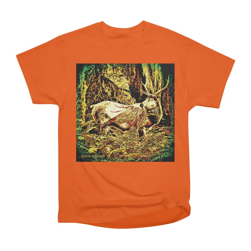 Antlers in the Wild Men's Heavyweight T-Shirt by MariecorAgravante's Artist Shop
