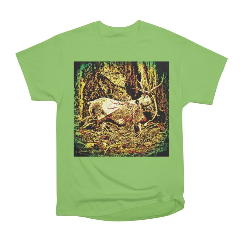 Antlers in the Wild Women's Heavyweight Unisex T-Shirt by MariecorAgravante's Artist Shop