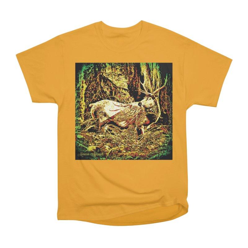 Antlers in the Wild Women's Heavyweight Unisex T-Shirt by MariecorAgravante's Artist Shop