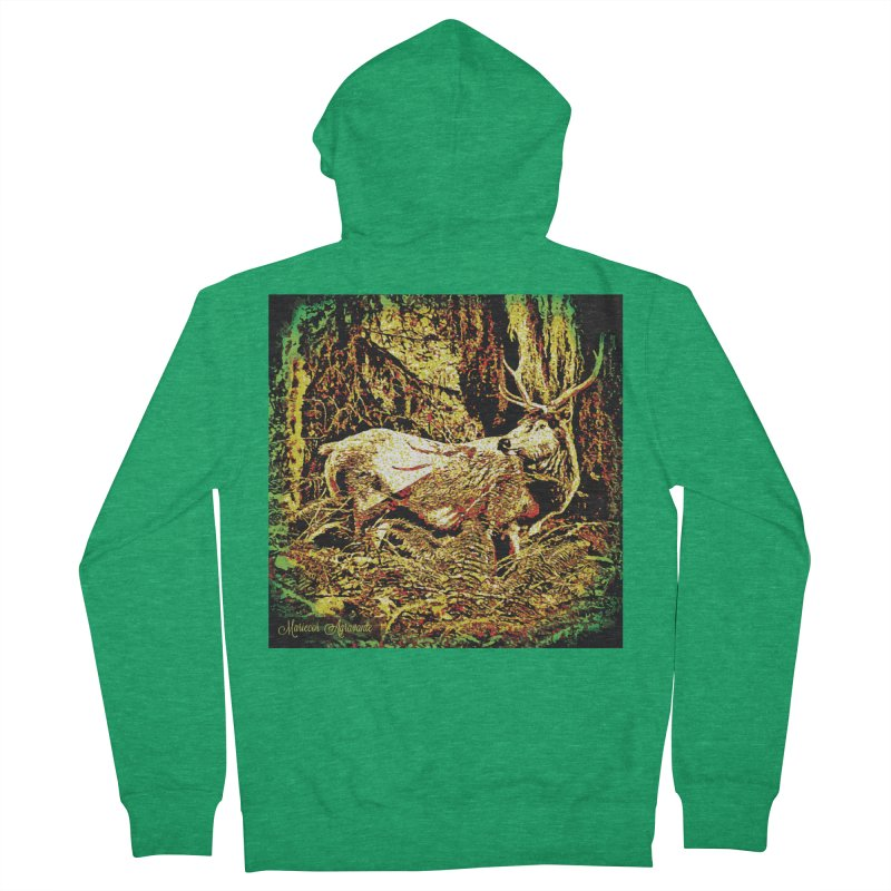Antlers in the Wild Women's Zip-Up Hoody by MariecorAgravante's Artist Shop