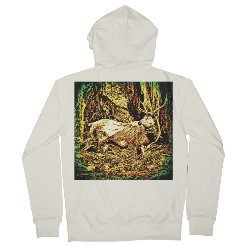Antlers in the Wild Women's French Terry Zip-Up Hoody by MariecorAgravante's Artist Shop