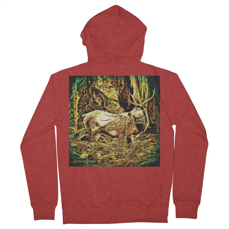 Antlers in the Wild Men's French Terry Zip-Up Hoody by MariecorAgravante's Artist Shop