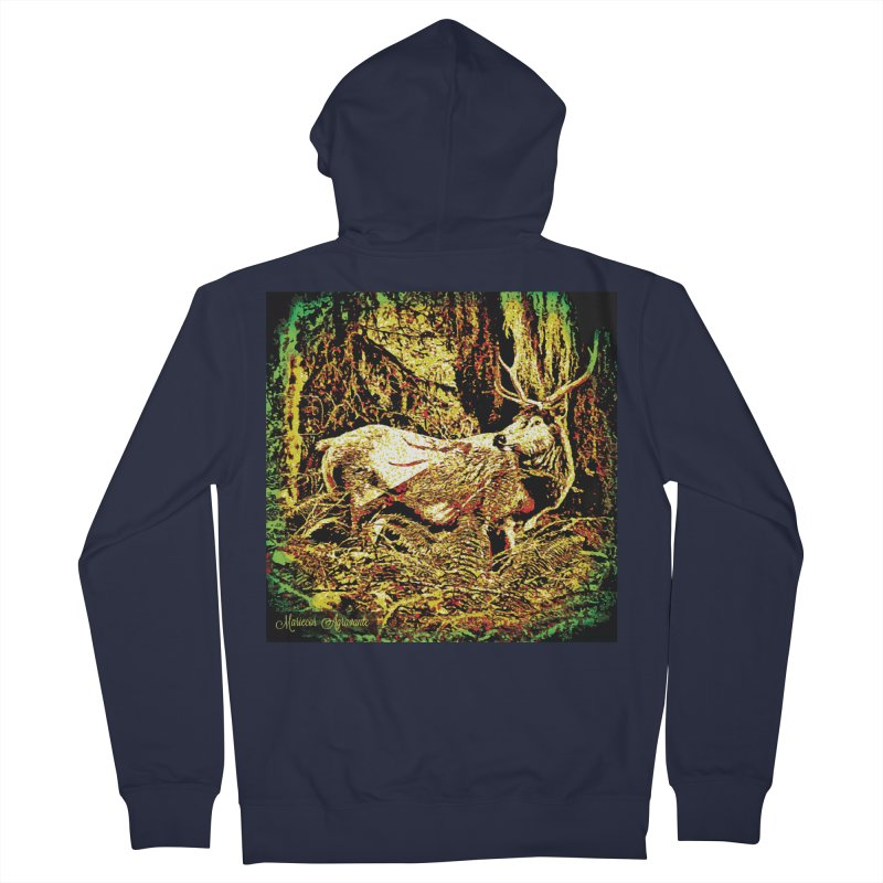 Antlers in the Wild Men's Zip-Up Hoody by MariecorAgravante's Artist Shop