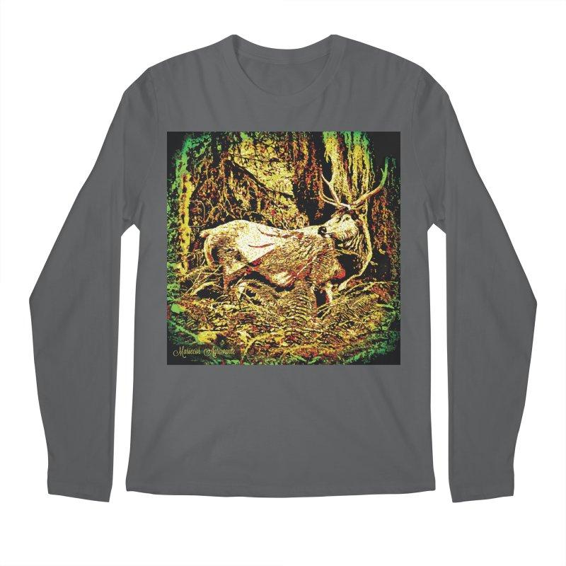 Antlers in the Wild Men's Longsleeve T-Shirt by MariecorAgravante's Artist Shop