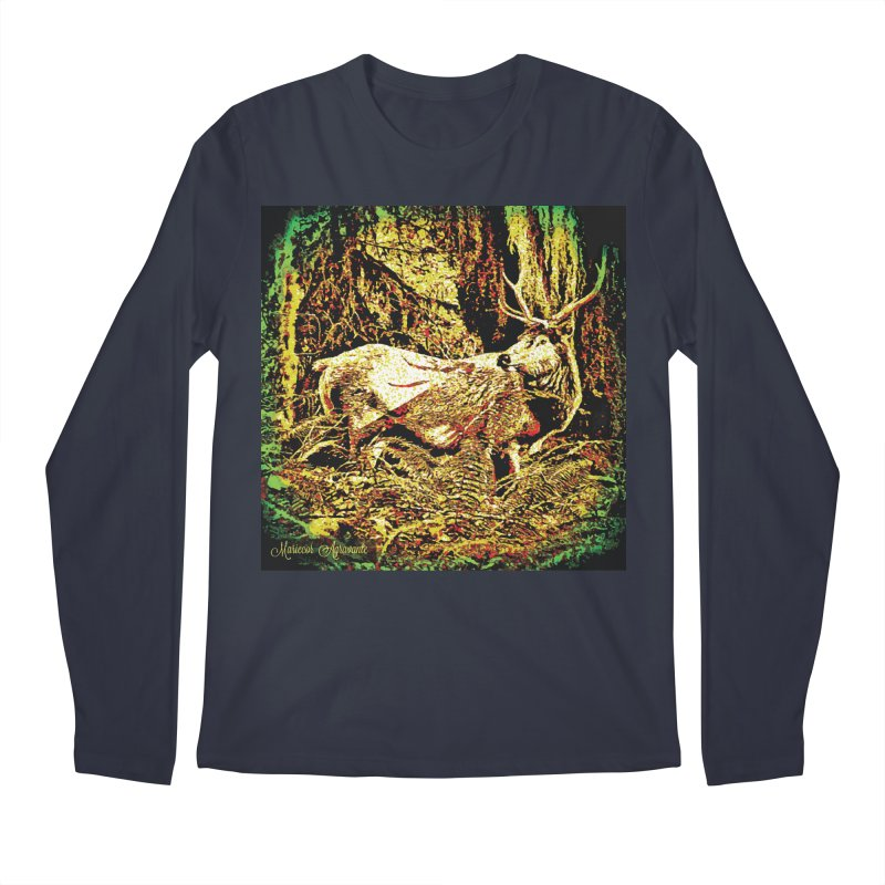 Antlers in the Wild Men's Regular Longsleeve T-Shirt by MariecorAgravante's Artist Shop