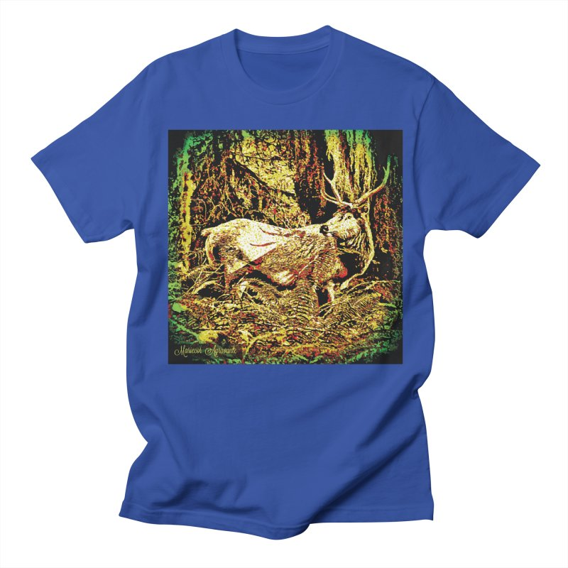 Antlers in the Wild Men's Regular T-Shirt by MariecorAgravante's Artist Shop