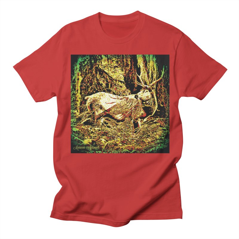 Antlers in the Wild Women's Unisex T-Shirt by MariecorAgravante's Artist Shop