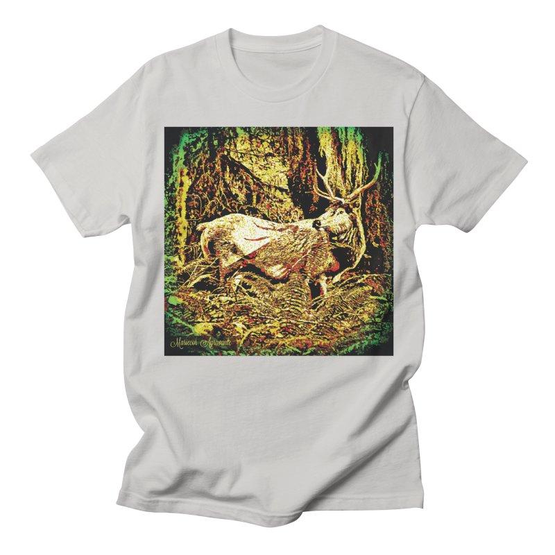 Antlers in the Wild Women's Regular Unisex T-Shirt by MariecorAgravante's Artist Shop