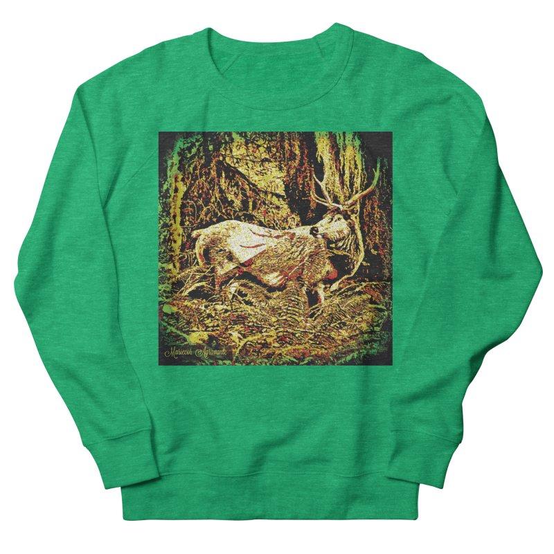 Antlers in the Wild Women's French Terry Sweatshirt by MariecorAgravante's Artist Shop