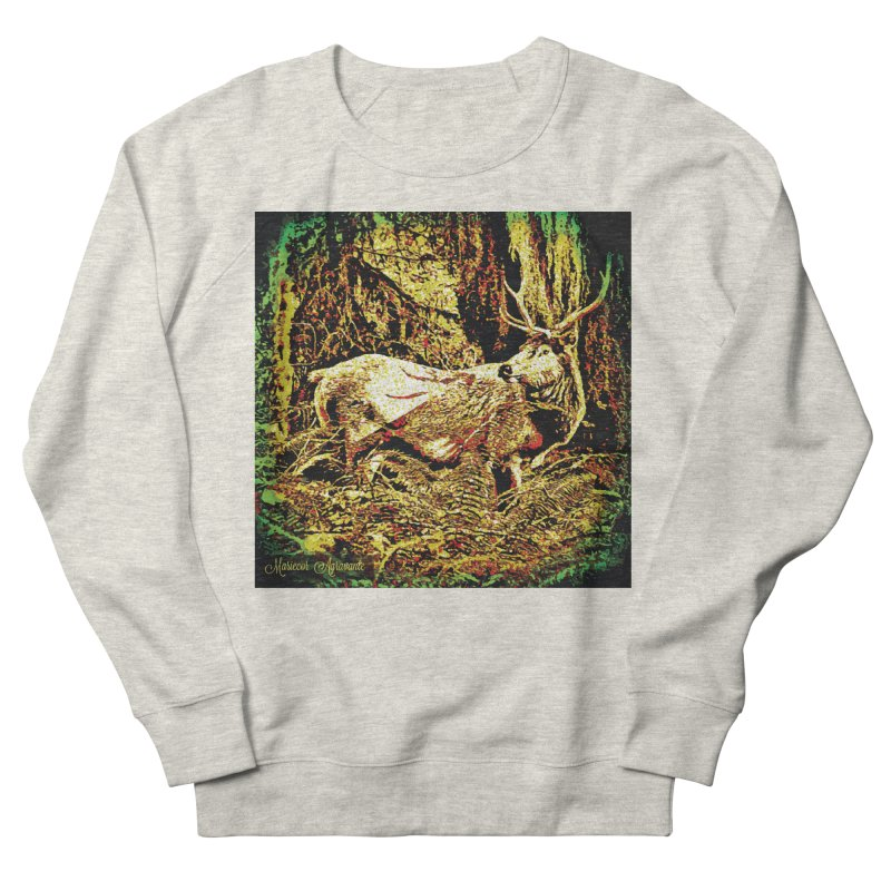 Antlers in the Wild Men's French Terry Sweatshirt by MariecorAgravante's Artist Shop