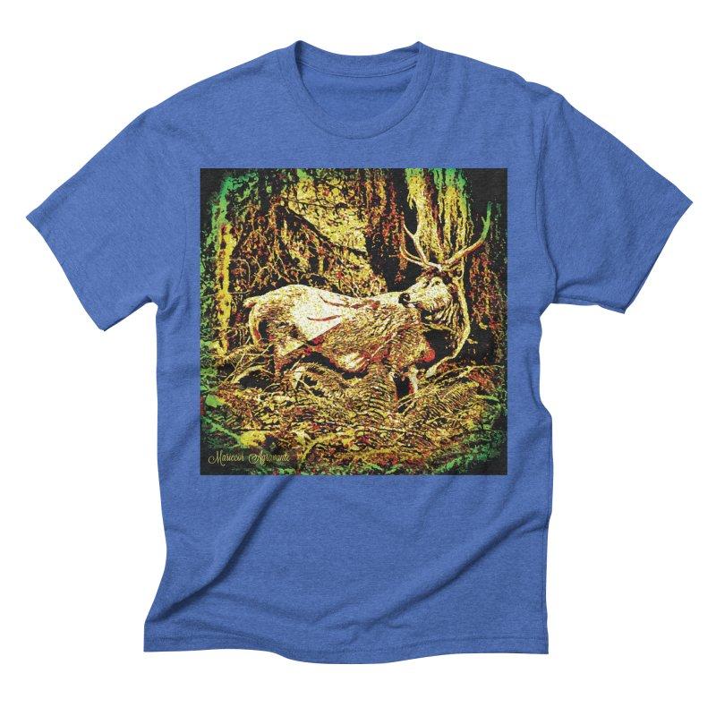 Antlers in the Wild Men's Triblend T-Shirt by MariecorAgravante's Artist Shop