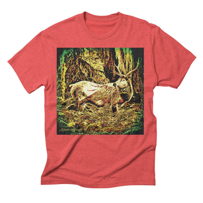 Antlers in the Wild Men's Triblend T-Shirt by MariecorAgravante's Artist Shop