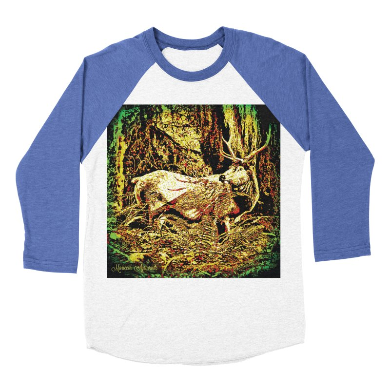 Antlers in the Wild Women's Baseball Triblend T-Shirt by MariecorAgravante's Artist Shop