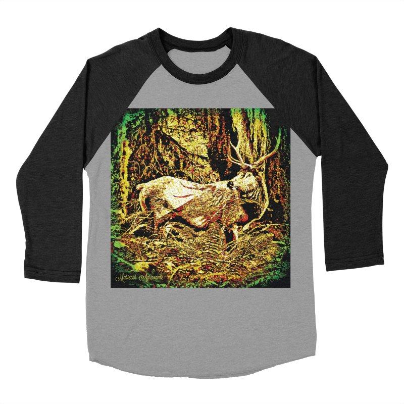 Antlers in the Wild Women's Baseball Triblend Longsleeve T-Shirt by MariecorAgravante's Artist Shop