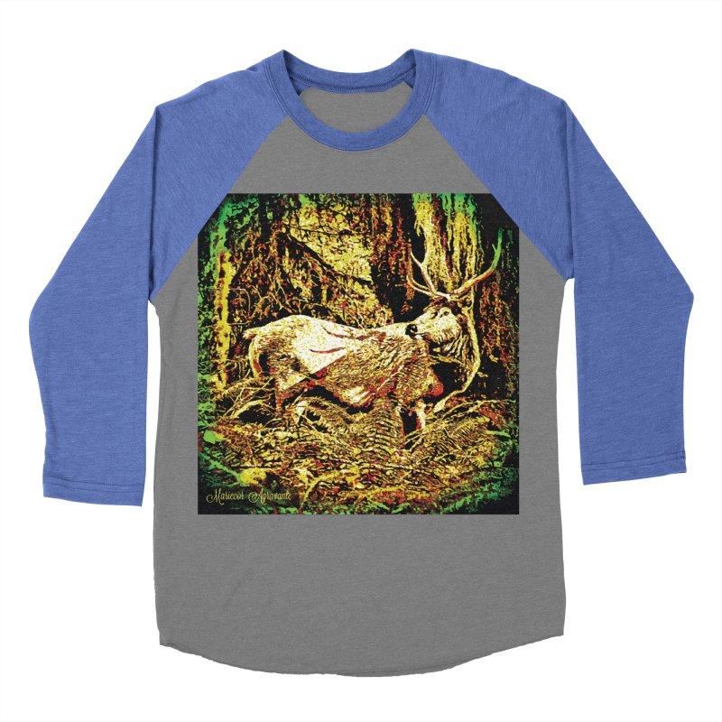Antlers in the Wild Men's Baseball Triblend T-Shirt by MariecorAgravante's Artist Shop