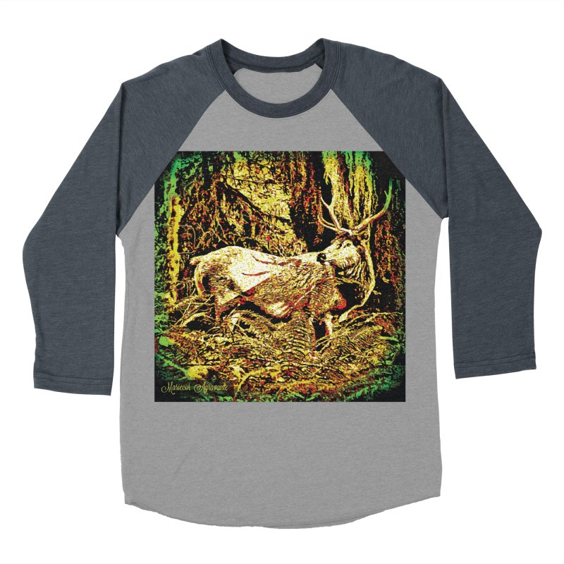 Antlers in the Wild Men's Baseball Triblend Longsleeve T-Shirt by MariecorAgravante's Artist Shop