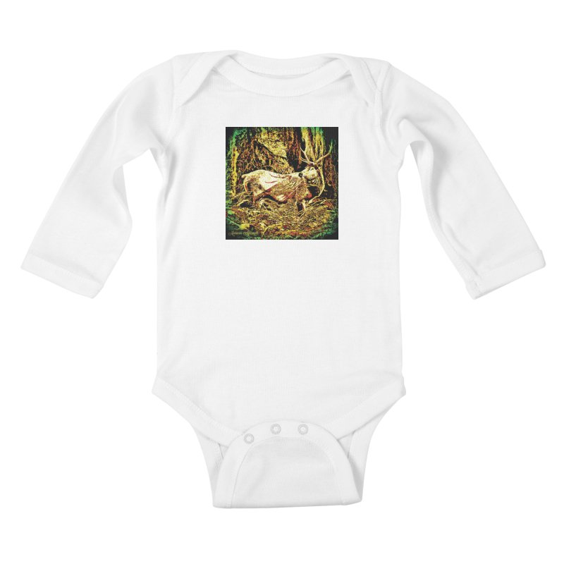 Antlers in the Wild Kids Baby Longsleeve Bodysuit by MariecorAgravante's Artist Shop