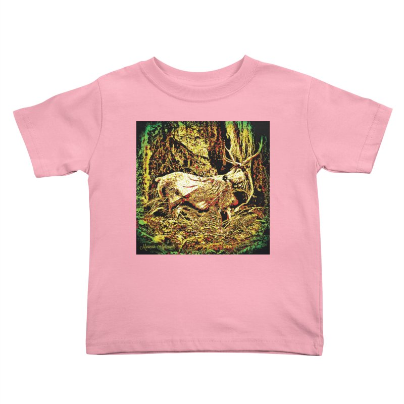 Antlers in the Wild Kids Toddler T-Shirt by MariecorAgravante's Artist Shop